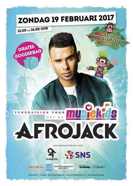 Afrojack fundraising muziekids SNS